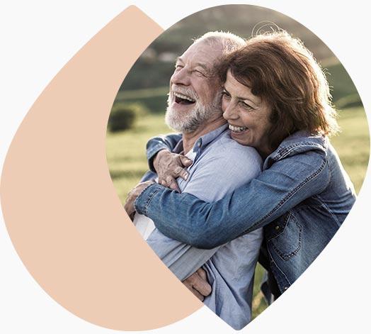 Couple de senior heureux