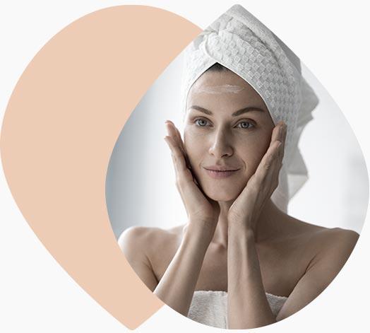 Routine féminine soin du visage
