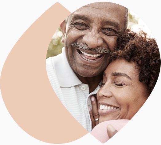 Couple de seniors en bonne santé