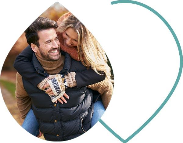 Jeune couple en bonne santé