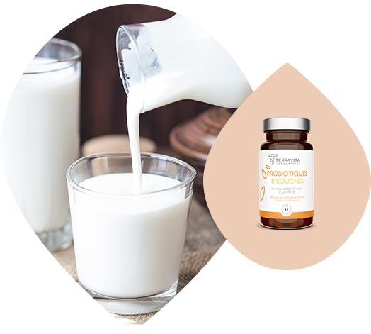 Yaourt liquide riche en probiotiques